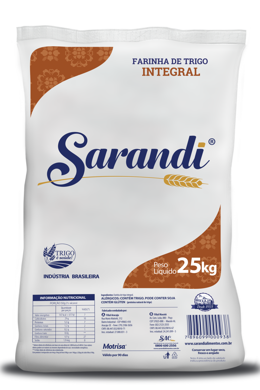 FARINHA DE TRIGO INTEGRAL 25kg